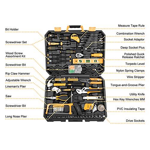 DEKO 168-teilig Premium Universal Werkzeugkoffer - und Haushalts-Werkzeugsets - 3