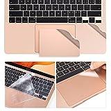 3-in-1-Schutz-Set, kompatibel mit 2020 13 Zoll MacBook Air A2337 M1/A2179, TPU-Tastaturabdeckung, 2 x Trackpad-Schutz, Handballenauflage für MacBook Air 13 Zoll