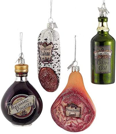 3 5 Noble Gems Glass Italian Food Ornament Set Of 4 Assorted product image