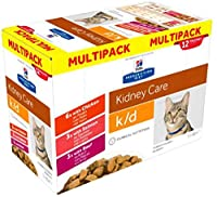 Reduced protein content; splitting the harmful substances can prevent your pet from feeling unwell. Hill's Prescription Diet Feline k/d Kidney Care is a great tasting wet cat food available in chicken, salmon and beef varieties and is the ideal way t...