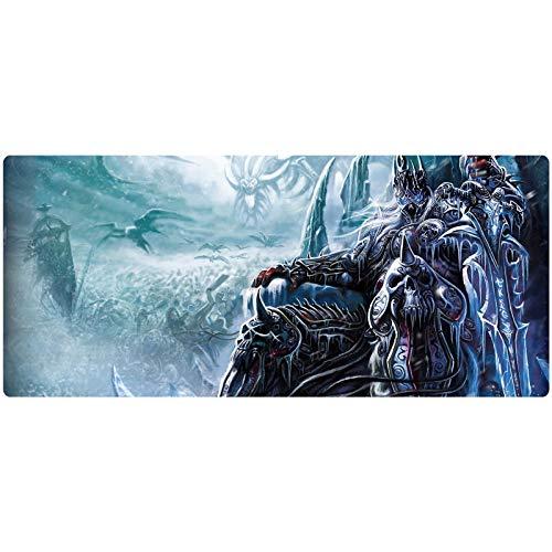 World of Warcraft Gaming Almohadilla De Ratón, Bordes Impermeables, Duraderos, Muy Adecuados para El Juego De La Oficina De Juegos Y Computadoras Portátiles (Color : 1, Size : 70x30x3cm)