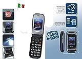 Telefono Cellulare Switel M270 Senior Phone Dual SIM per Anziani Volume e Suoneria Amplificati Compatibile Apparecchi Acustici M4/T4 HAC Funzione SOS Telesoccorso TeleSalvavita Base Ricarica Inclusa