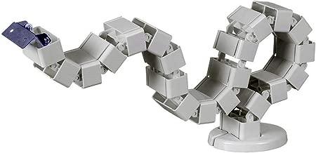 Ergohubs Vertebrae Cable Management Spine Kit Height Adjustable Desk Quad Entry Wire Organizer Long Modular Tray (4 Feet - Silver-(WM1200))