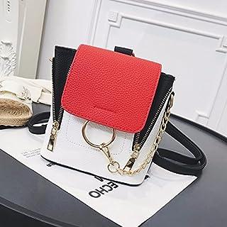 Leng QL Personality Backpacks Fashion Female PU Leather Rucksack Casual Traveling Backpack Shoulder Bag
