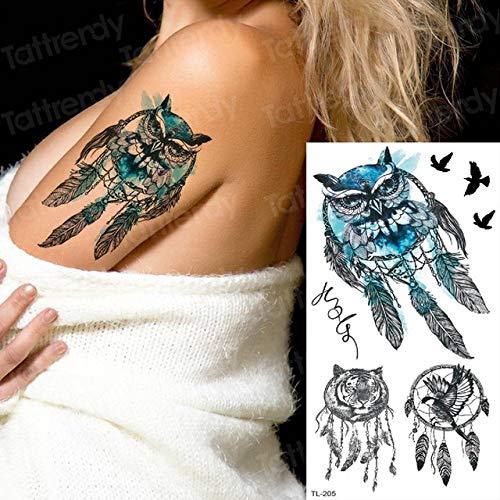 Handaxian 3 Piezas Flor Tatuaje Pegatina Tatuaje Tatuaje Acuarela ...