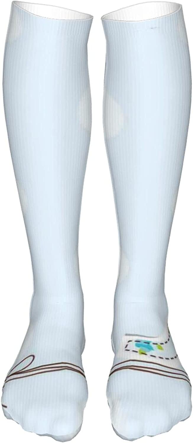 Compression High Socks,Women and Men-Best for Running,Athletic,H