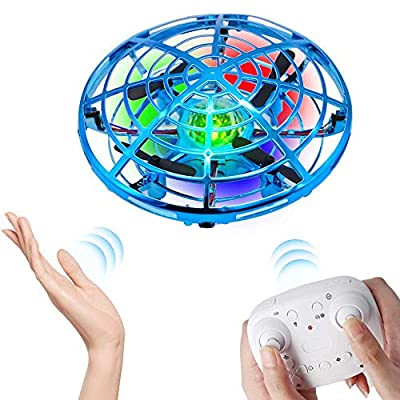 WALLE Drones for Kids Remote Control Flying Toys Mini Hand Drones Toy with Colorful LED Lights for Boys Girls Kids (Blue)
