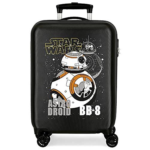 Star Wars Droids Maleta de Cabina Negro 38x55x20 cms Rígida ABS Cierre de combinación Lateral 34 2 kgs 4 Ruedas Dobles Equipaje de Mano