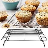 BOLORAMO Griglia di Raffreddamento, griglia di Cottura antiruggine Antiaderente con Design Pieghevole per Torte e Pancake(40 * 25 * 9CM)