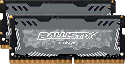 Crucial Ballistix Sport LT BLS2K8G4S240FSD Memoria Gaming Kit per Computer Portatile, 2400 MHz, DDR4, DRAM, 16 GB (8 GB x 2), CL16, Grigio