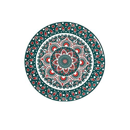 Yqs Vajilla Estilo Bohemio Placas Planas Plato Plato Decorativo patrón Decorativo Marruecos étnico-Estilo de la Placa Vajilla (Color : D, Plate Size : 8 Inch)
