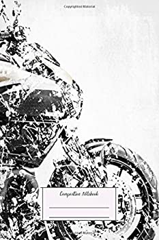 Composition Notebook  My Motorbike Series Artwork Based On The Ducati Diavel Lined Soft Cover Letter Size