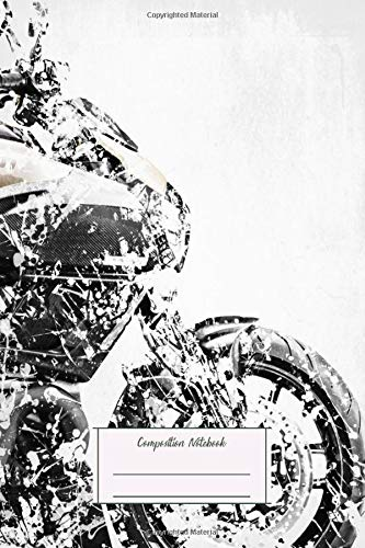 Composition Notebook: My Motorbike Series Artwork Based On The Ducati Diavel Lined, Soft Cover, Letter Size