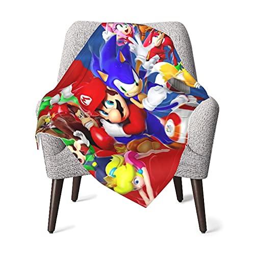 Mario Game Super Manta para bebé, manta ultra suave de forro polar cálido mullido, manta cómoda para niños y niñas de 75 x 100 cm.
