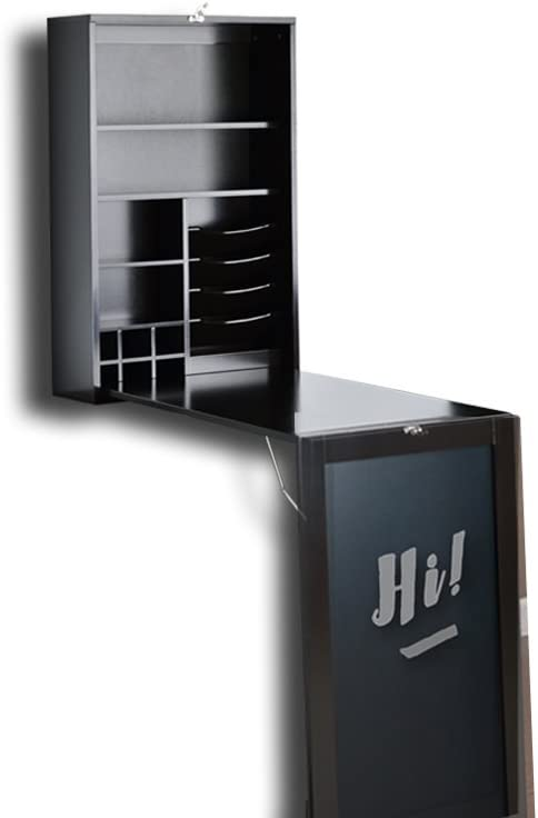 Utopia shop Alley Collapsible Fold Down Table specialty shop Wall with Desk Cabinet