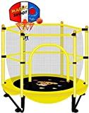 JYMBK with Enclosure Net High Elasticity Trampoline with Safety Enclosure Outdoor and Indoor Trampoline for Kids Durable Stand Net Go Outside The PolesA (Color : A)