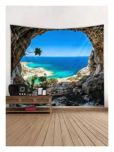 Jue Tapicería, exótica Playa y el Agua de la Palmera por la Orilla con la Tela colgados de la Pared de la decoración for el Dormitorio Sala de Estar del Dormitorio-Verde/Azul zxy