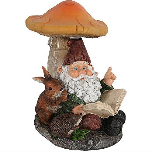 cute reading gnome statue