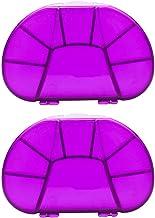 Cxjff 2pcs Portable 8 Lattices Pill Case Container Sealed Pill Storage Box Mini Plastic Case (Green) (Color : Purple)