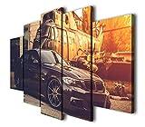 45Tdfc 5 Panel Pared Arte Pintura M3 E90 Coche Deportivo Fotos Prints en Lienzo la Imagen Decor Aceite para decoración de hogar Moderno