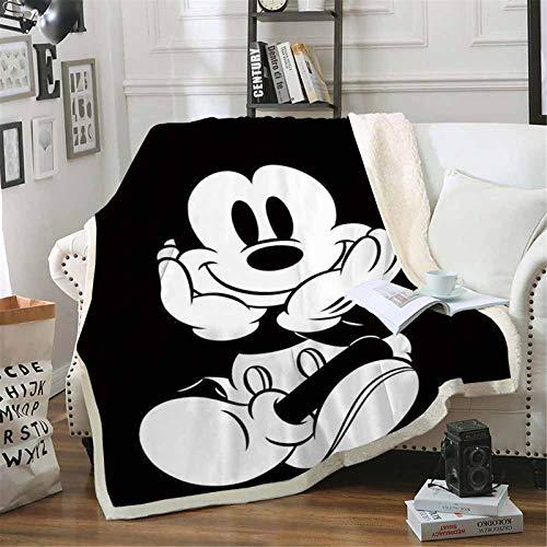 Goplnma-Disney Decke Mickey Und Minnie,Kuscheldecke Mickey Mouse Minnie,Übergroße Fleecedecke,für Erwachsene Und Kinder (150 * 200,3)