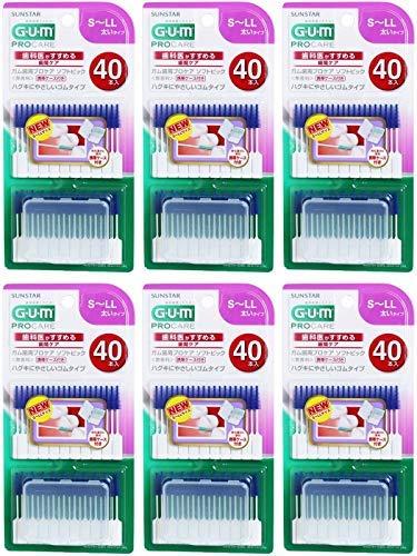 【まとめ買い】ガム歯周プロケアソフトピック40P サイズS~LL【×6個】