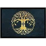 MoonWorks Felpudo con diseño de árbol de la vida, nudo celta,...
