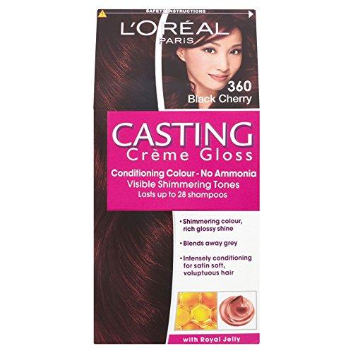 3 x L'Oreal Paris Casting Creme Gloss Conditioning Colour 360 Black Cherry