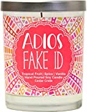 Adios Fake ID Scented Candle - 21st Birthday Gifts for Her, Finally Legal, R.I.P Fake ID, 21st Birthday Candles Gift idea for Women, Happy 21st Birthday for Women, Funny Birthday Gift Ideas