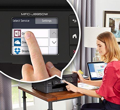 Brother Printer Impresora inalámbrica todo en uno multifunción impresora de inyección de tinta a color Duplex/NFC de un solo toque para conectar la impresión móvil, color negro