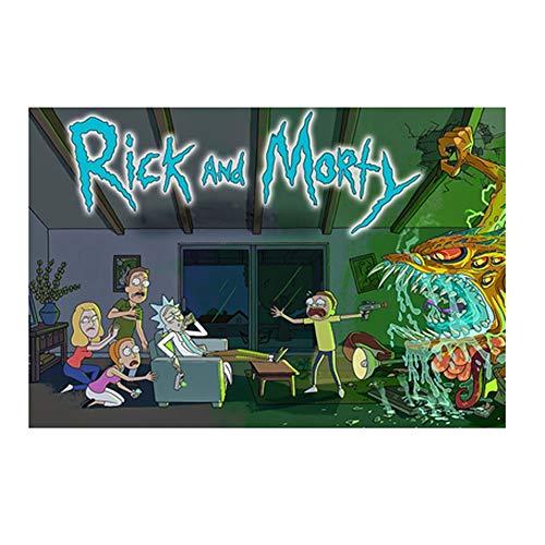 VAST Creativa Animado Rick y Morty Dibujos Animados en Caja Juguetes Arte del Juego Fit 300 ~ 1000 Piezas de Regalos for niños, Inteligencia de Tilo Rompecabezas 523 ( Color : C , Size : 1000pc )