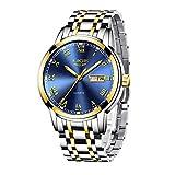 LIGE Hombre Reloj Impermeable Acero Inoxidable Cuarzo Analógico Relojes Moda Casual Deportivos Automático Calendario Reloj para Hombre