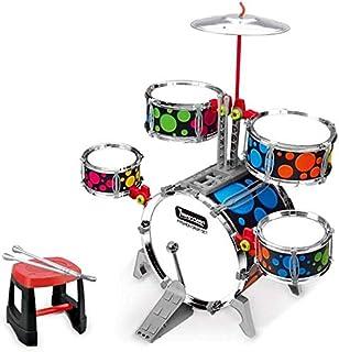 ألعاب الأطفال، طبول الأطفال، لعبة موسيقية آلات موسيقية لتعليم مبكرة الأولاد والبنات (اللون متعدد الألوان) (اللون: متعدد ال...