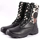 JRY Botas para Hombre - Zapatos de policía de Seguridad Impermeables de caña Alta Botas de Senderismo Zapatos de Trabajo con Aislamiento para Acampar Senderismo Montañismo Todo Terreno