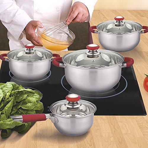 Vital Home - BATERÍA DE Cocina 8PZAS Acero INOX Premium BENDORF