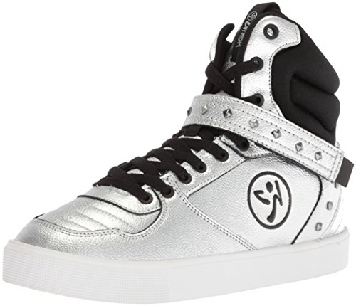 Zumba Fitness Zumba Athletic Fitness Street High-Top-Turnschuhe Aktiv Stilvoll Tanzschuhe Damen, Silver, 43 EU