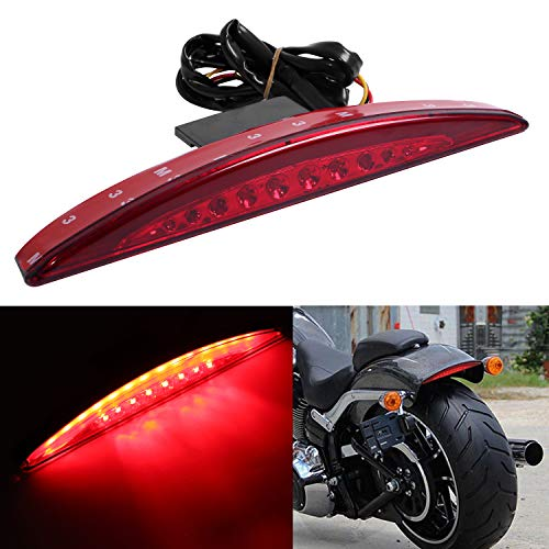 Rear Fender LED Tail Light Tip-Brake For Harley Breakouts FXSB CVO FXSBSE 2013-2017,red