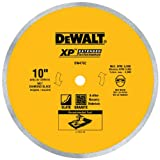 DEWALT Diamond Blade for Porcelain or Tile, Wet Cutting, Continuous Rim, 5/8-Inch Arbor, 10-Inch (DW4762)