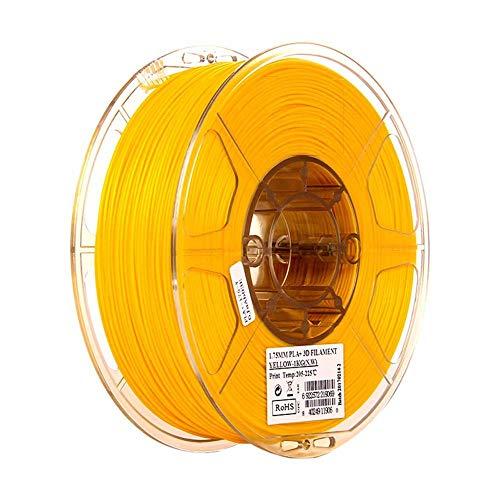 PLA+ Filament 1.75mm 1kg, Tangle-free Filament PLA Plus 3D Printing Materials for 3D Printer, 1 Spool-Yellow A_1.75mm