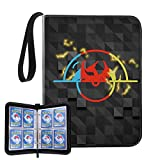 ANNOR 4-Pocket Binder Compatible with Pokemon Cards, Portable Card Holder Storage Case with 60 Removable Sheets Holds Up to 480 Cards - Trading Collectors Album
