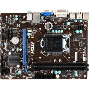 MSI H81M-P33 Desktop Motherboard - Intel H81 Chipset - Socket H3 LGA-1150 - Micro ATX - 1 x...