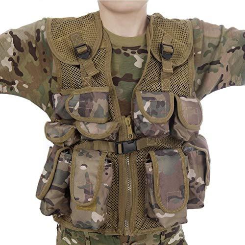 Highlander Boys Junior Military Style Assault Vest Gilet
