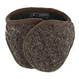 180s Men's American Wool Behind The Head Ear Warmer (Brown Tweed)