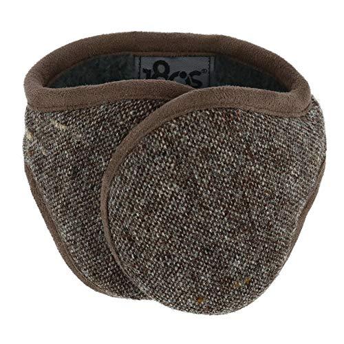 180s Men#039s American Wool Behind The Head Ear Warmer Brown Tweed