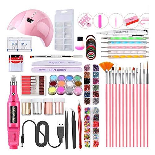SASKATE Kit de secador de uñas, lámpara UV de uñas, lámpara de manicura, práctica portátil lámpara UV LED secador de uñas Kit de uñas