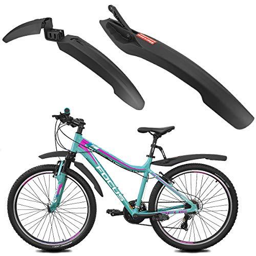 MidGard Fahrrad Kotflügel Bike Schutzblech für vorne und hinten für 24-29 Zoll