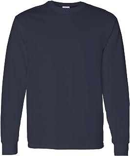 Gildan mens Heavy Cotton 5.3 oz. Long-Sleeve T-Shirt(G540)-NAVY-3XL