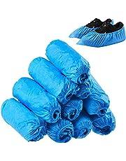 Cubiertas de Zapatos Desechables,Cubierta de Botas Higiénica Desechable para Uso Médico,Lugar de Trabajo-Protectores de Piso Antideslizantes para Interiores-Talla única para La Mayoría (300 piezas)