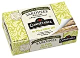 Sardines | Connetable | Sardines in Pure Olive Oil | Skinless Boneless | 4.375 Ounce | Pack of 12