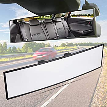 JoyTutus Rear View Mirror Panoramic Convex Rearview Mirror Interior Clip-on Wide Angle Rear View Mirror to Reduce Blind Spot Effectively for more car Universal SUV Trucks  11.81